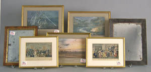 Eight framed prints