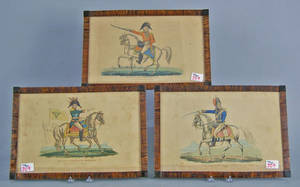 Set of 5 English military dress prints