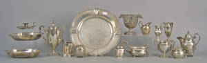 Group of silver table articles