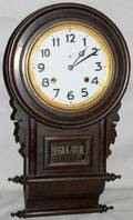 082343 MAHOGANY CASED REGULATOR WALL CLOCK H 22