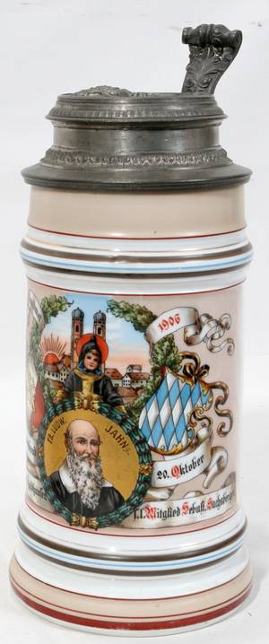 080412 GERMAN LITHOPANE PORCELAIN STEIN