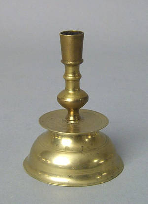 English brass taperstick 17th c
