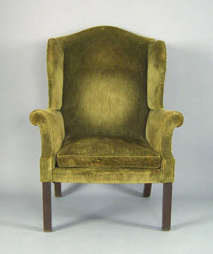 Philadelphia Chippendale mahogany easy chair ca 1775