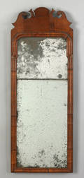 Queen Anne walnut veneer looking glass mid 18th c