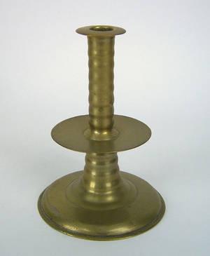 English brass candlestick ca 1650