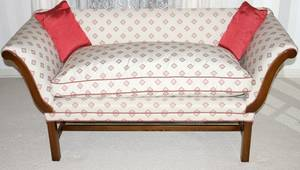 071448 CHIPPENDALE STYLE MAHOGANY LOVE SEAT H 29