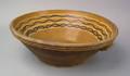 Massive Pennsylvania Moravian redware bowl ca 1800