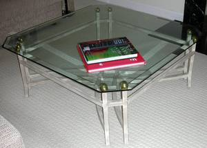 101562 GLASS TOP COFFEE TABLE BY ARTISTICA 40 SQ