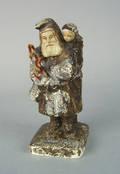 Chalk Santa Claus figure late 19th c