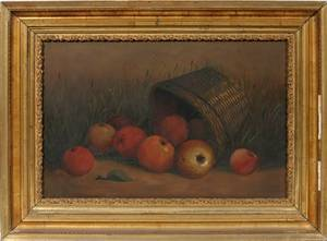 092564 EUROPEAN OIL STILL LIFE OF FRUIT