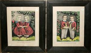082455 CURRIER  IVES LITHO THE LITTLE BROTHERS