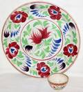 072473 MANN  CO HANLEY PAINTED STONEWARE CHARGER