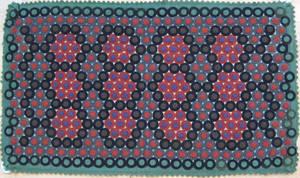 Felt penny table rug late 19th c