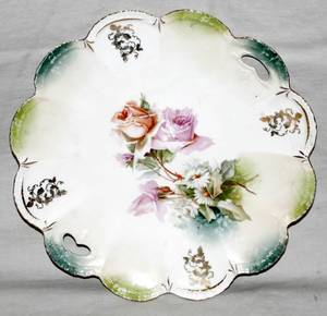 061543 R S PRUSSIA PORCELAIN CAKE PLATE C 1910
