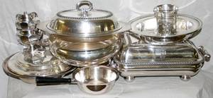 091608 SILVERPLATE TABLEWARE INCLUDING BOWLS