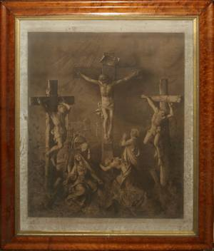 082475 INTAGLIO PRINT OF THE CRUCIFIXION C 1900