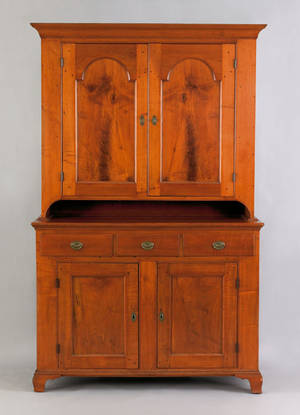 Lancaster County Pennsylvania Queen Anne walnut wall cupboard ca 1760