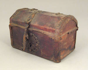 Continental hide covered dresser box 18th c