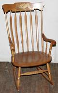 091617 HITCHCOCK OF CONNECTICUT CHERRY ROCKING CHAIR