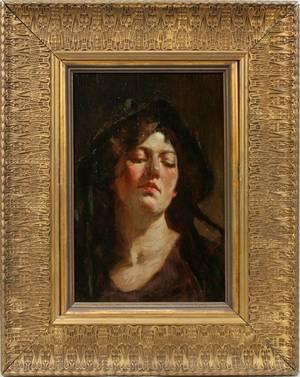 092001 MATHIAS JOSEPH ALTEN OIL PORTRAIT OF A LADY