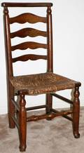 081049 ENGLISH COUNTRY LADDER BACK CHAIR C 1820