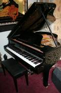 070032 STEINDORF BABY GRAND PIANO  BENCH MID 20TH