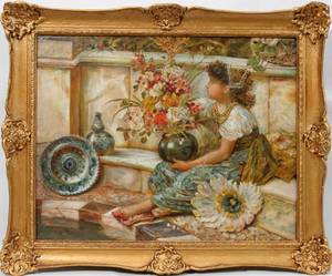 062051 WILLIAM S COLEMAN OIL GIRL WBASKET BY POOL