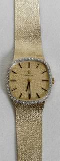 041064 OMEGA 14K YELLOW GOLD  DIAMOND MANS WATCH