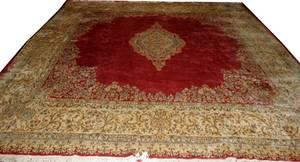 031096 KERMAN PERSIAN CARPET SEMI ANTIQUE 12x12