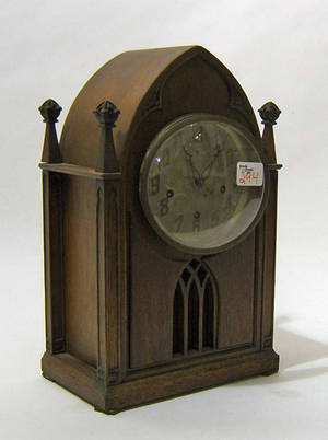 New Haven Clock Co gothic mantle clock