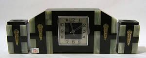 Art deco marble clock