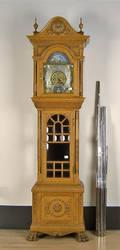 Tiffany  Co oak tall case clock with 3train