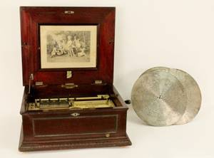 Mahogany Cased Imperial Symphonion Music Box