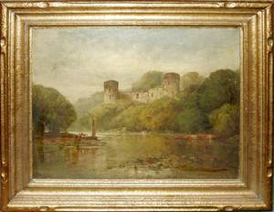 032082 ANDREW MELROSE OIL ON CANVAS BOTHWELL CASTLE
