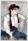 030123 RICHARD JERZY WATERCOLOR PORTRAIT OF BOY