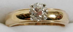 021192 14K GOLD  6CT DIAMOND SOLITAIRE RING