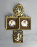 Four French miniature portraits