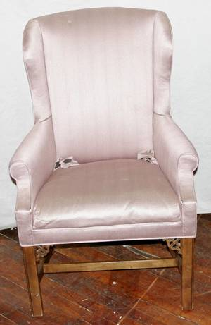 111185 BAKER CHIPPENDALE STYLE MAHOGANY CHAIR