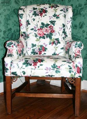 111184 BAKER CHIPPENDALE STYLE MAHOGANY CHAIR