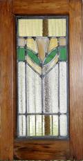 122177 STAINED GLASS WINDOW PANEL IN ORIGINAL FRAME