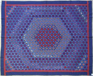 Pennsylvania Mennonite pieced calico quilt