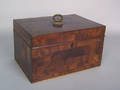 Chester County Pennsylvania mahogany sewing box early 19th c