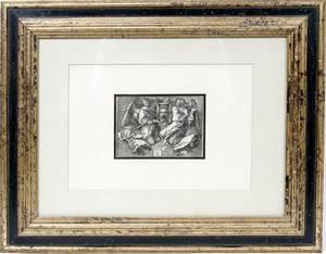112114 ALBRECHT DURER ENGRAVING ANGELS HOLD SUDARIUM