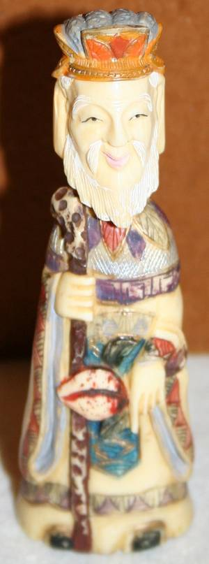 040251 CHINESE IVORY  POLYCHROME SNUFF BOTTLE