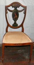 020228 VERNIS MARTIN STYLE DECORATED WOOD SIDE CHAIR