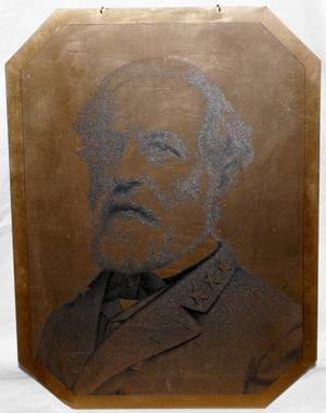 031367 BRASS PORTRAIT ROBERT E LEE