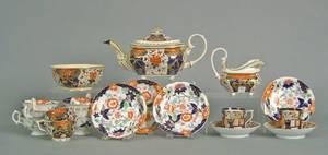 Gaudy ironstone tea service