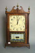 Federal style pillar and scroll clock