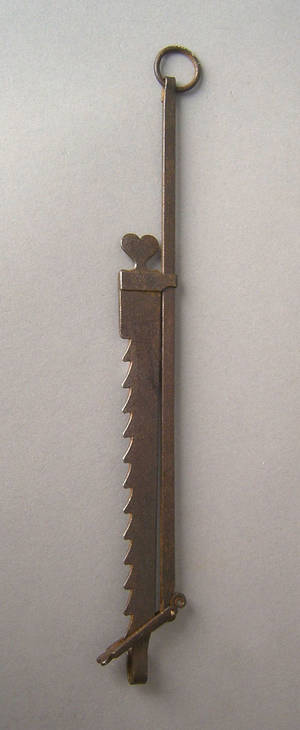 Miniature wrought iron sawtooth trammel 19th c