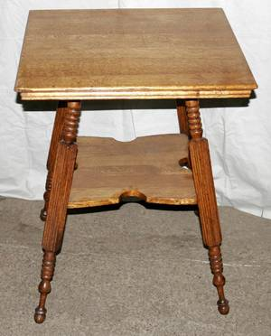 031389 LATE VICTORIAN OAK SQUARE TABLE C1900